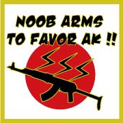 Noob Arms 復興支援ステッカー