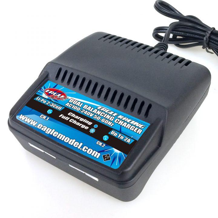 NEW!リポバッテリー専用充電器入りました!AC Li-Po デュアルバランシングチャージャー 2-3S用