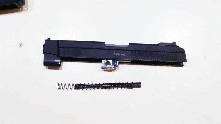 Raptor MP443 スライド付属部品の分解と組み込み
